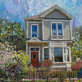 Alameda 1892 Queen Anne by Linda Weinstock