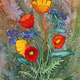 Alaska Poppies and Forgetmenots by Teresa Ascone
