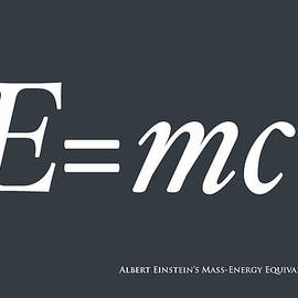 Albert Einstein E Equals Mc2 by Michael Tompsett