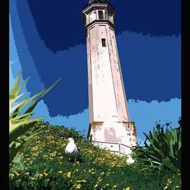 Robert J Sadler - Alcatraz Lighthouse Poster
