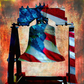 Liberty Bell Art Smooth All American Series by Lesa Fine