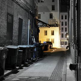 Alley Focal with Shepard Fairey Wall Graffitti by Kathy Barney