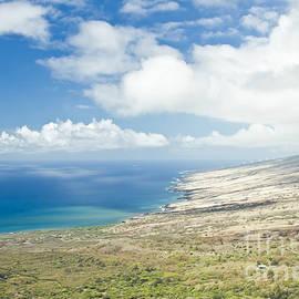 Aerial View Kaupo Maui Hawaii by Sharon Mau
