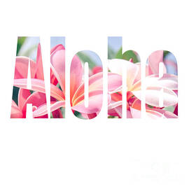 Sharon Mau - Aloha Tropical Plumeria Typography