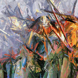 American Civil War - Abstract Expressionism by Isabella Howard