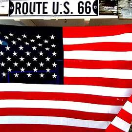 Dany Lison - American flag Route 66