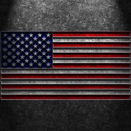 American Flag Stone Texture by Brian Carson