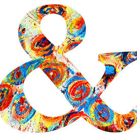 Ampersand Symbol Art No. 6 by Patricia Awapara