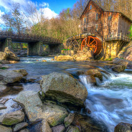 Michael Bowen - An early Spring morning at the Glade Creek Grist Mill.