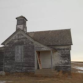 An Old Church On The Prairie  by Jeff Swan