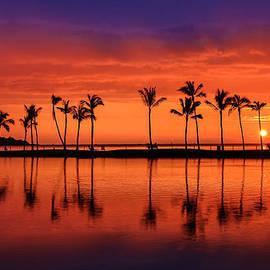 Anaeho Omalu Bay Hawaii Sunset by Sam Amato