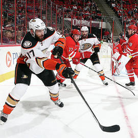 Anaheim Ducks V Carolina Hurricanes by Gregg Forwerck