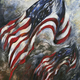 Francine Stuart - and our flag was still there