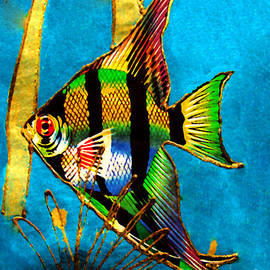 Angel Fish - Watercolor Painting by Merton Allen