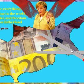 Angela Merkel Legal Robbery by Augusta Stylianou