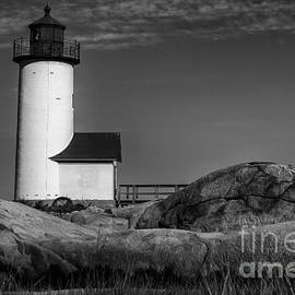 Annisquam Lighthouse bw by Jerry Fornarotto