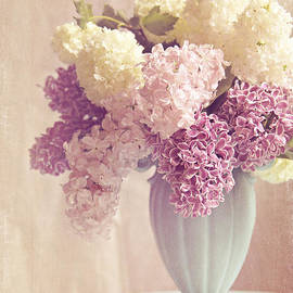 Anticipations- lilac shabby chic still life by Sylvia Cook