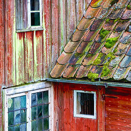 Christian Lagereek - antique cottage with broken stained glass