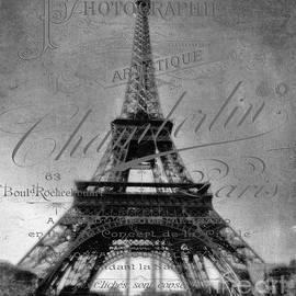 Antique Eiffel Tower  by Karen Lewis
