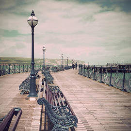 Antique Swanage Pier by Linsey Williams