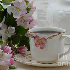 Apple Flowers And Tea Cup by Luv Photography
