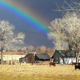 Frank Wilson - Approaching Storm At Cattle Ranch