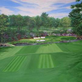 Approaching the Dream at Augusta's 12th Hole by Nancy Raborn