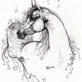Angel  Tarantella - Arabian Horse Drawing 8