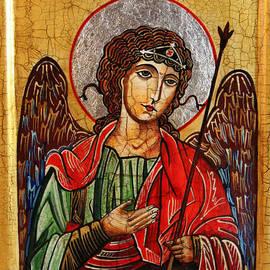 Archangel Michael Icon by Ryszard Sleczka