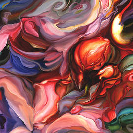 Aria - Acrylic Painting on Canvas - Original Art - Colorful Abstract Art - Floral Art by Brooks Garten Hauschild