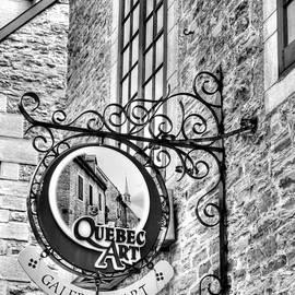Mel Steinhauer - Art In Old Quebec BW