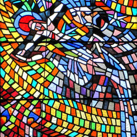 Art Nouveau Stained glass windows SS Vitus Cathedral Prague by Christine Till