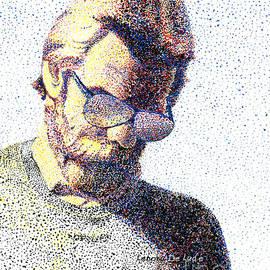 Lenora  De Lude - Art Pointillism Male Portrait