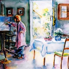 Artist at work in Summer  by Trudi Doyle