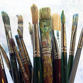 Artist Paintbrushes by Garry Gay