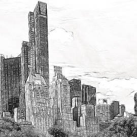 Don Johnson - Artistic NYC Skyline in Black and White