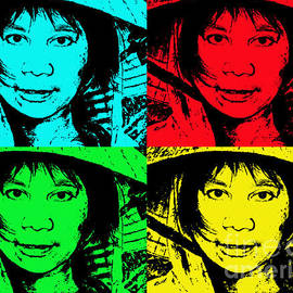 Jim Fitzpatrick - Asian Woman wearing a Conical Hat Altered