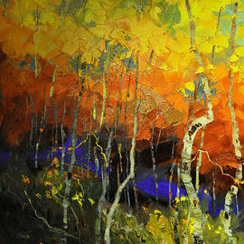 Aspens in the Fall by Rob Hemphill