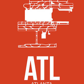 ATL Atlanta Airport Poster 3 by Naxart Studio