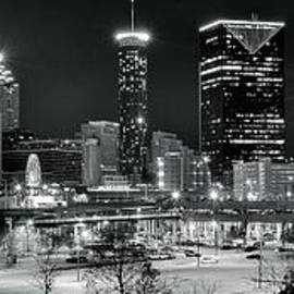 Frozen in Time Fine Art Photography - Atlanta Panoramic Black and White