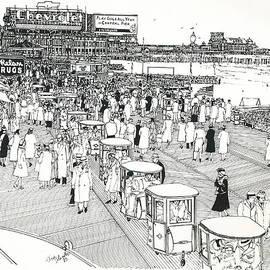 Ira Shander - Atlantic City Boardwalk 1940