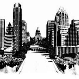 Carl Crum - Austin Skyline Photomontage
