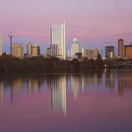 Austin Skyline Sunset Reflections by Mark Weaver