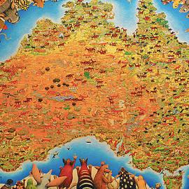 Girish J - Australia animals map