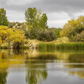 Autumn at an Arizona Lake by Aaron Burrows