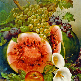 Autumn Fruits c1860 by Padre Art
