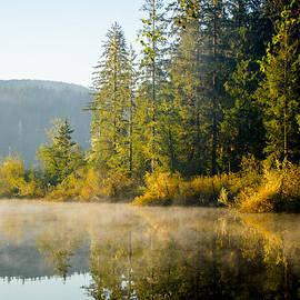 Autumn Sunrise Fairy Lake by Roxy Hurtubise
