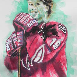 AZ Coyotes ...Hockey Player Shane Doan by Chrisann Ellis