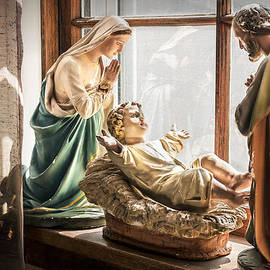 Baby Jesus Welcoming A New Day by Nancy Strahinic