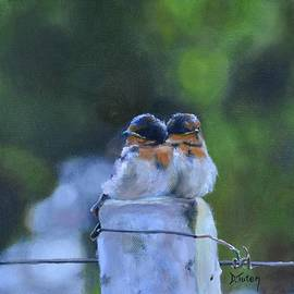 Donna Tuten - Baby Swallows on Post
